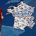 Evelyne Dhéliat jupe grise haut rouge 2080 07 12 10
