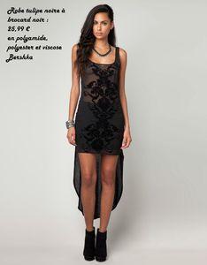 robe noire bershka brocard