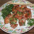 Echine de porc marinée soja miel