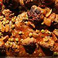 Boulettes de viande aux tomates et petits pois et épices