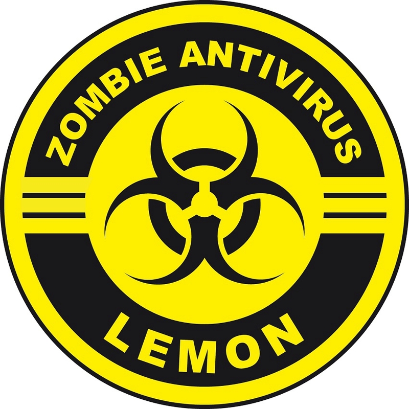zombie lemon label halloween