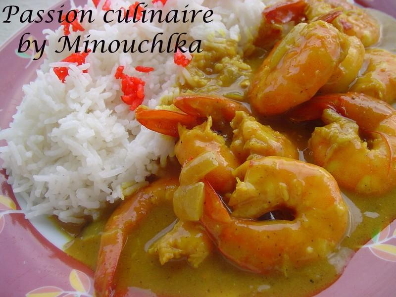 Curry De Crevettes Au Lait De Coco Passion Culinaire By Minouchka