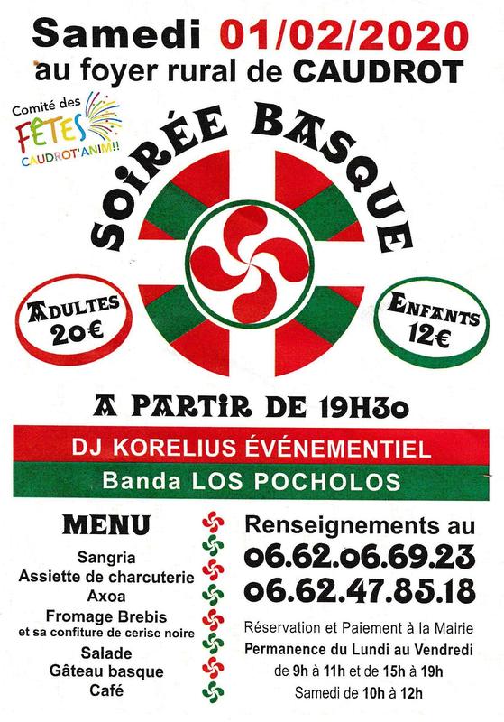 Soirée Basque CAUDROT 1er février 2020