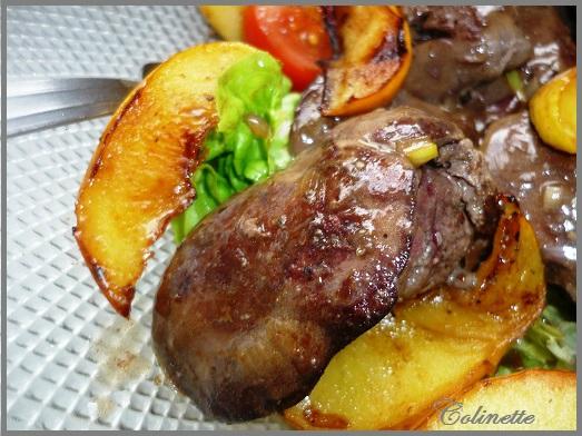 salade de foies de volailles pommes framboise vanille 01