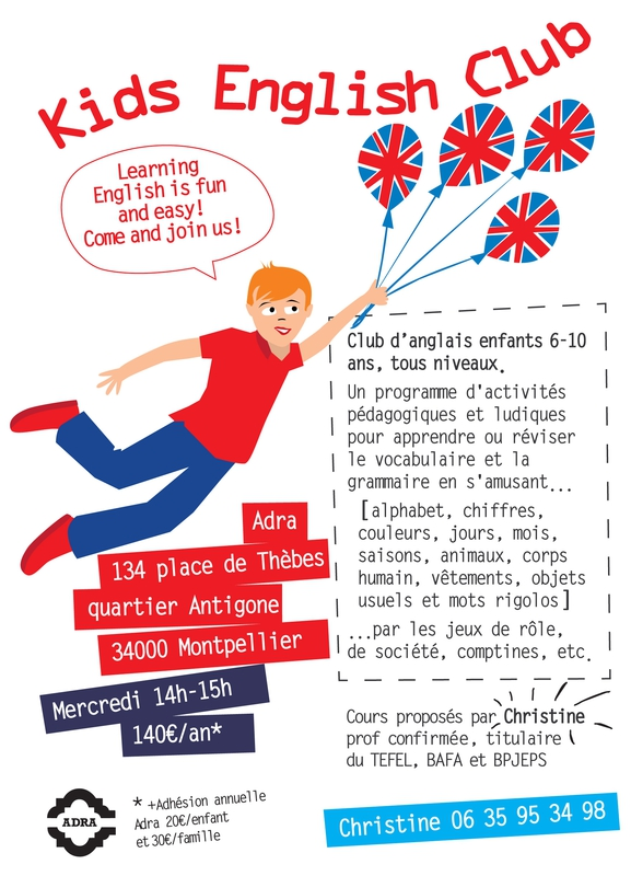 kids english A5 flyer