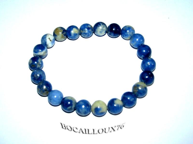 Bracelet SODALITE 2 Perles (2)