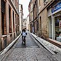 Cycliste rue Maletache