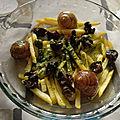 Escargots et pommes de terre frites au beurre persillé
