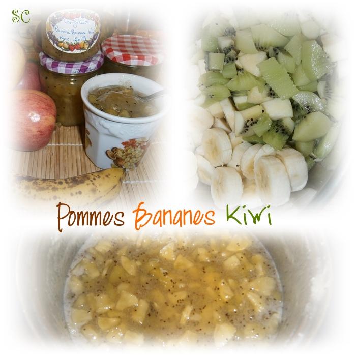 Confiture pomme banane kiwi