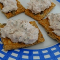 Crackers aux rillettes de thon