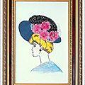 Carton Mousse La Dame au Chapeau Bleu 13x18 cm