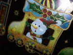 photo bonhomme de neige dans le train du Père Noël
