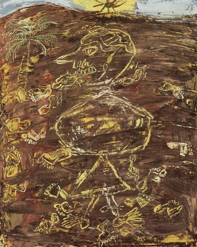 Jean Dubuffet (1901 - 1985), Nomade aux traces de pas dans le sable, 1948
