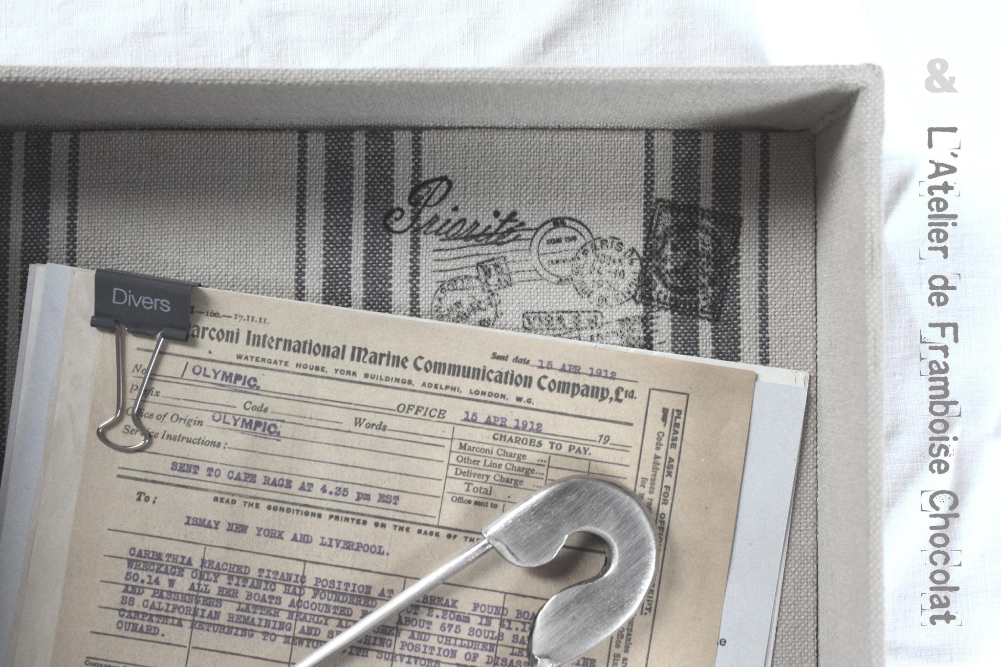 Boi^te courriers_1 L'ATELIER DE FRAMBOISE CHOCOLAT