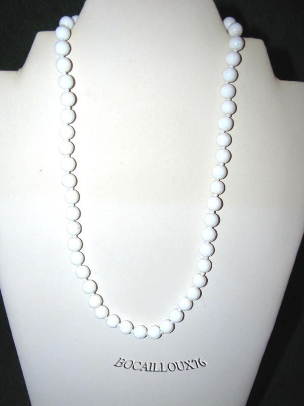 Collier VERRE Blanc Antique 1 (2)