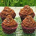 Cupcakes chocolat noix de coco