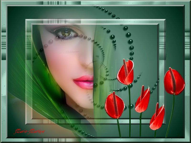 couleur vert et rouge