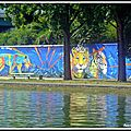 Marko 93 illumine les rives du canal st denis