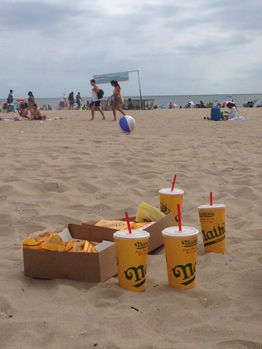 hot dog sur la plage de coney island
