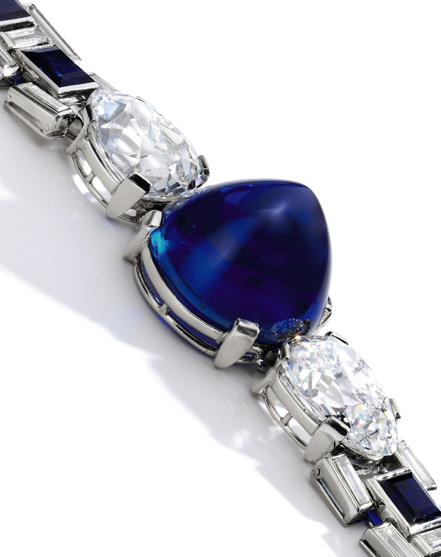 Sapphire and diamond bracelet, Cartier, 1927