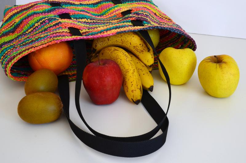 Cabas en sacs plastique recyclés-DIY-crochet- récup-upcycling-tote bag-La chouette bricole (6)