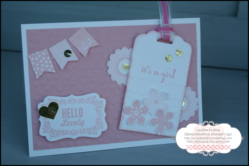 Carte Hello Lovely naissance fille petit