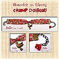 Bracelets champs de liberty