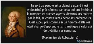 Citation Maximilien de Robespierre