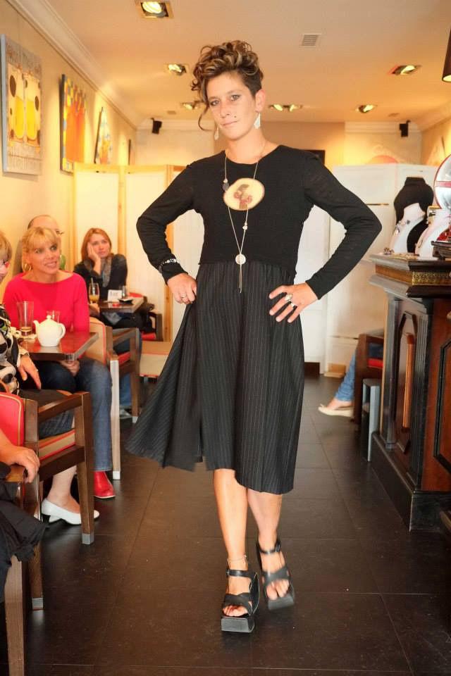 robe noire lainage