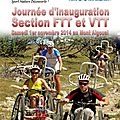 Journée d'inauguration de la section ftt/vtt