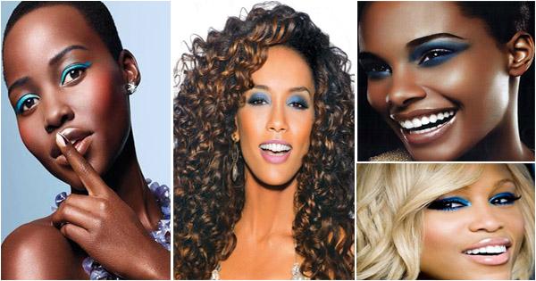maquillage-bleu-femme-noire-et-métisse-blue-eyeshadow-black-woman
