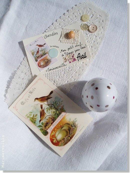 petite carte Jardin de Pâques ©Marimerveille - oeuf peint à la main