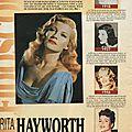 Rita hayworth, à travers les années (through the years)