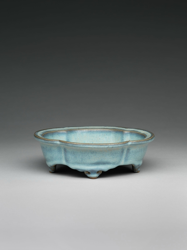 Lobed Quatrefoil Basin with Four Cloud Scroll Feet, Ming dynasty, 1368-1644, probably 15th century