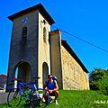 Escapade à vélo de route sur les collines situées au nord-est de bourgoin-jallieu (est-lyonnais/isère)