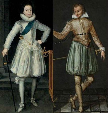 Chausses en bourse, France années 1610