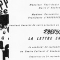 La lettre en cavale, 1988.