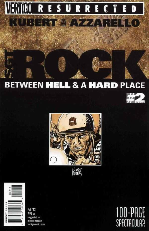 vertigo resurrected sgt rock between hell and a hard place 2