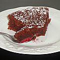 Gâteau chocolat framboise (moelleux et léger)