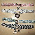 Bracelets doubles ou colliers biais