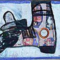 Chaussure Pas le temps Mélanie - collage et peinture