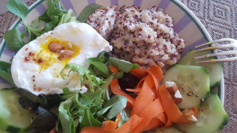 porridge quinoa-parmesan