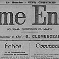 Les cousins - censure de clemenceau - mouvement de la foire de poitiers - envoi de colis aux prisonniers