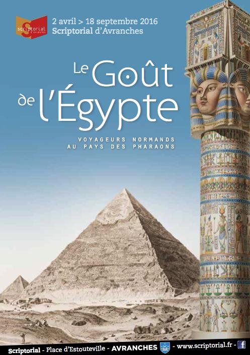 exposition Egypte Scriptorial Avranches expo 2016 affiche