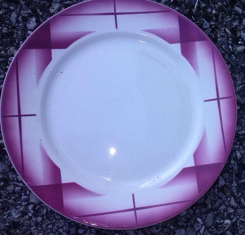 Assiette plate Artix brocante (2)