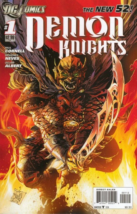 new 52 demon knights 01 2nd print