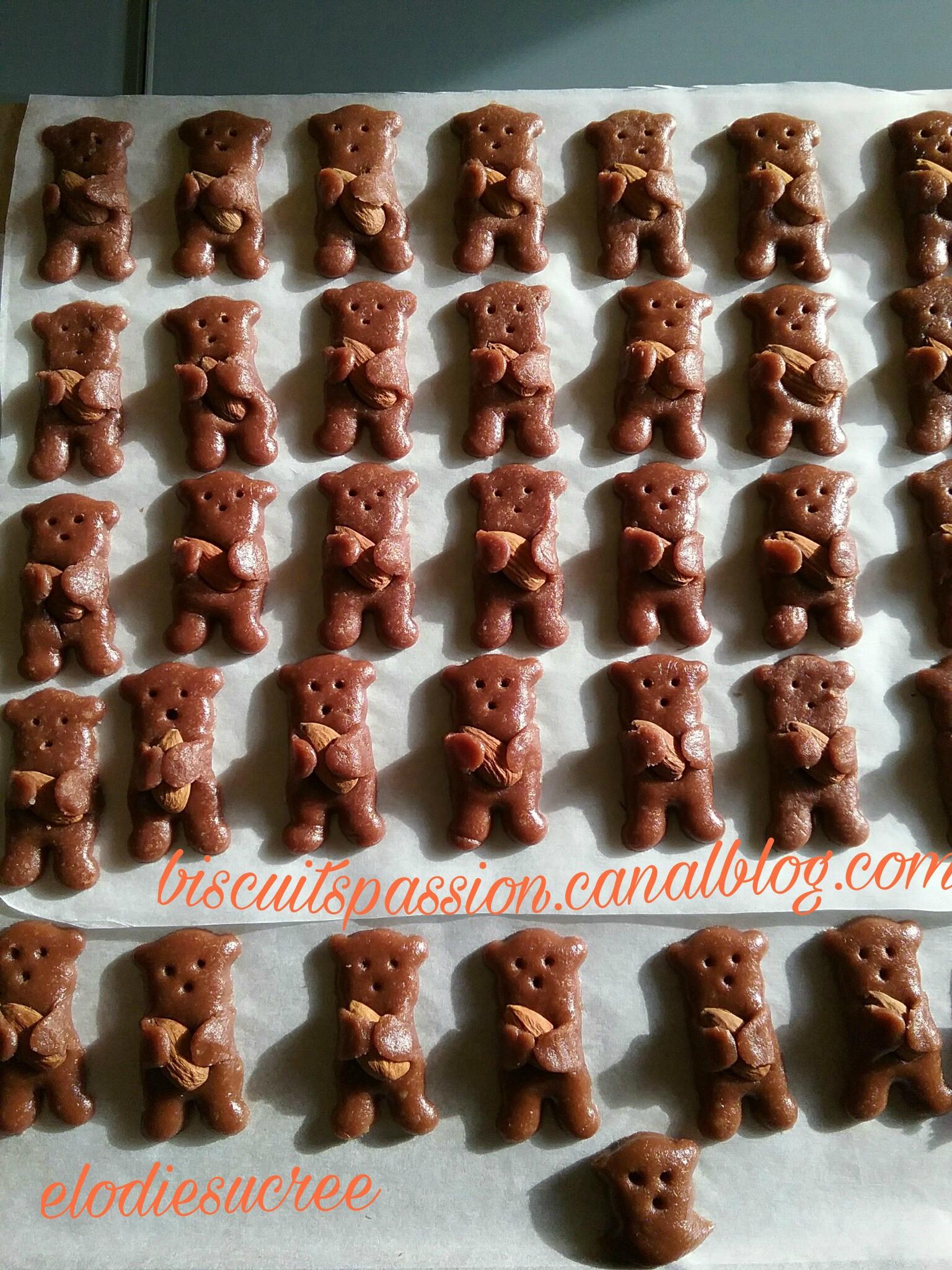 Minis Nounours aux amandes