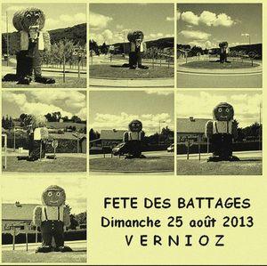 FETE DES BATTAGES A VERNIOZ (ISERE) - AOUT 2012 - PHOTO VIEILLIE