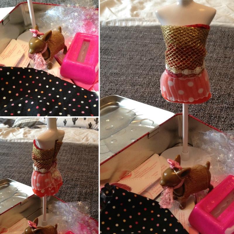 Mannequin de la mode avec chien 3€