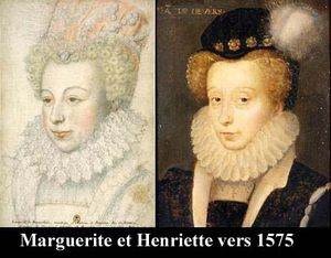 Marguerite et Henriette vers 1575